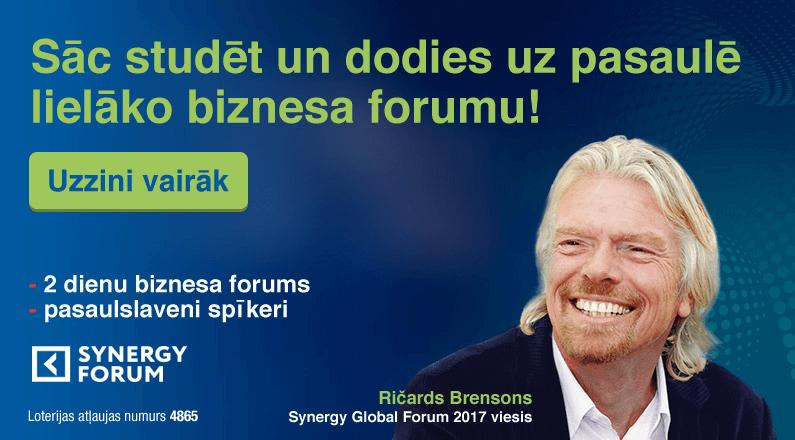Sāc studēt BVK un laimē braucienu uz Synergy Global Forum