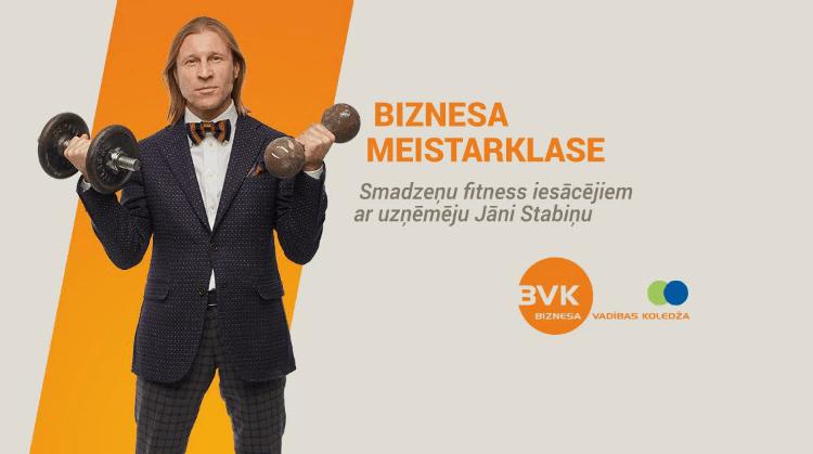 Biznesa meistarklase ar uzņēmēju un BVKoledža direktoru Jāni Stabiņu