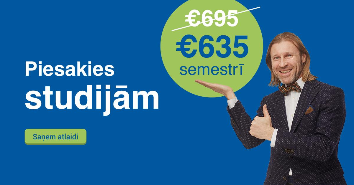 Rezervē labāko cenu Biznesa Vadības Koledžā un studē tikai par €635 semestrī!