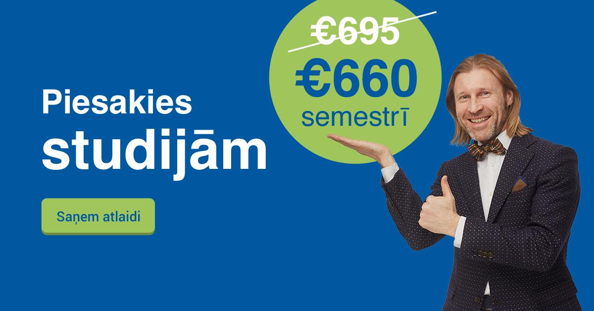 Rezervē labāko cenu Biznesa Vadības Koledžā un studē tikai par €655 semestrī!