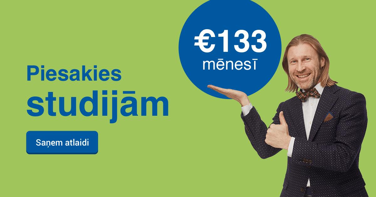 Rezervē labāko cenu Biznesa Vadības Koledžā un studē tikai par €133 mēnesī!