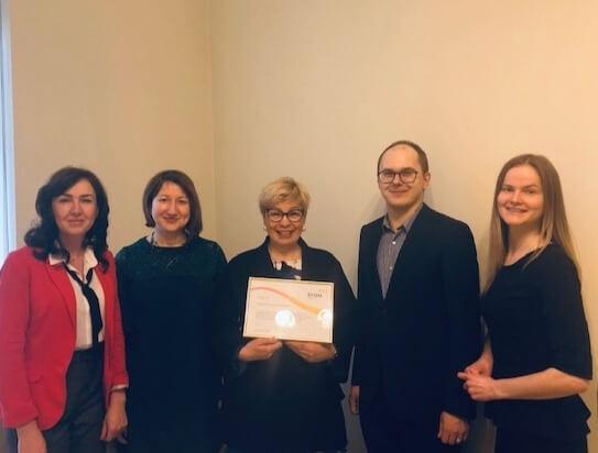 Biznesa vadības koledža saņem EFQM biedra statusu