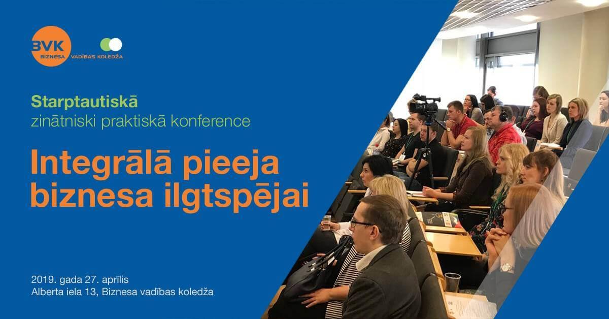 Integrālā pieeja biznesa ilgtspējai - BVK konference