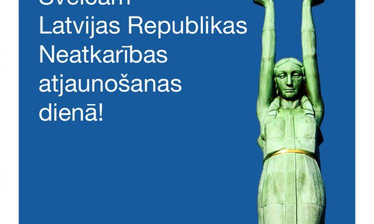 Sveicam neatkarības atjaunošanas dienā!