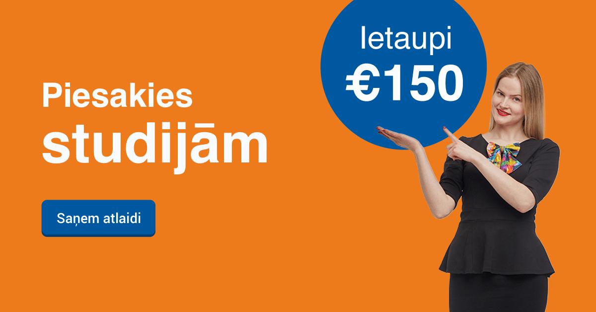 Rezervē labāko cenu līdz 25. jūnijam un ietaupi 150 EUR studijām