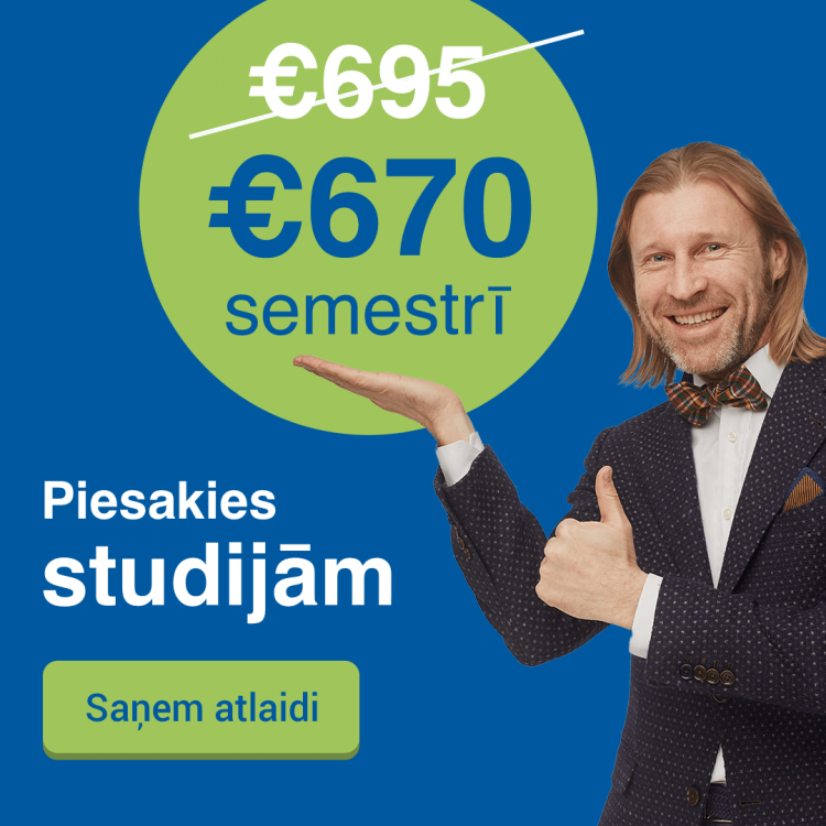 Rezervē labāko cenu Biznesa vadības koledžā 2019. gadā un studē par 670 EUR