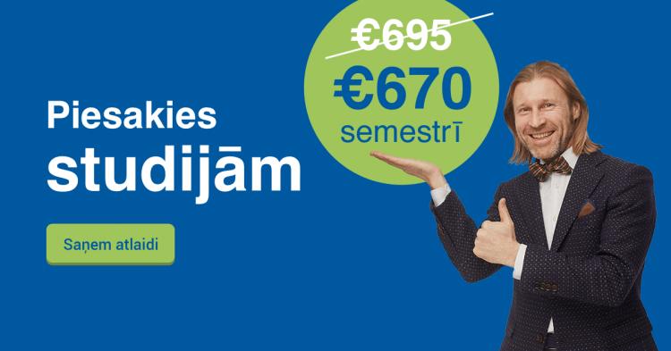 Saņem labāko cenu Biznesa vadības koledžā un studē tikai par 670 EUR semestrī!