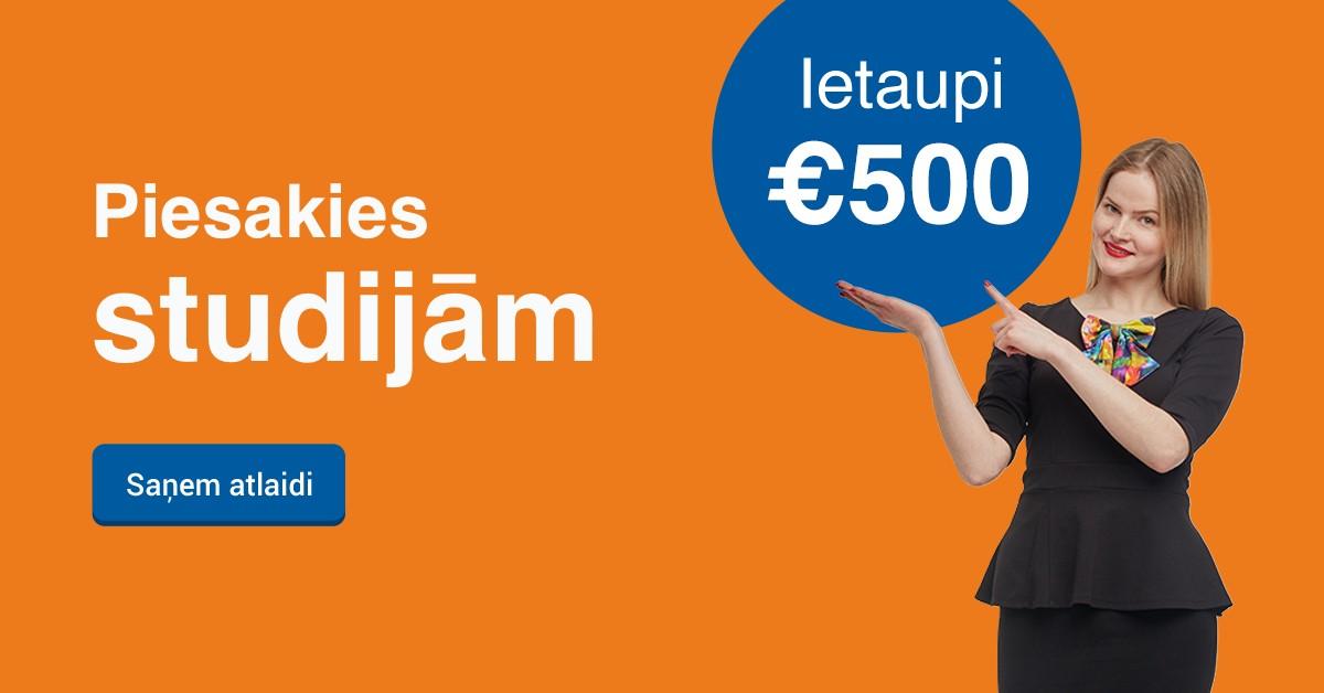 Rezervē labāko cenu līdz 22. novembrim un ietaupi 500 EUR studijām