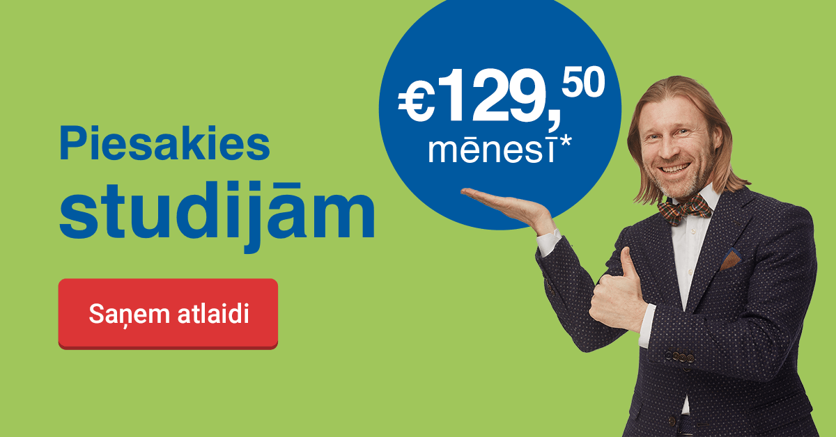 Rezervē labāko cenu līdz 14. februārim un ietaupi 100 EUR studijām