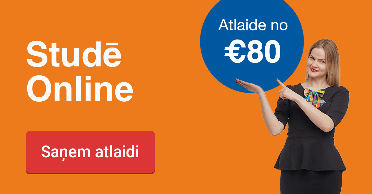 Rezervē labāko cenu līdz 2. oktobrim un ietaupi 80 EUR studijām