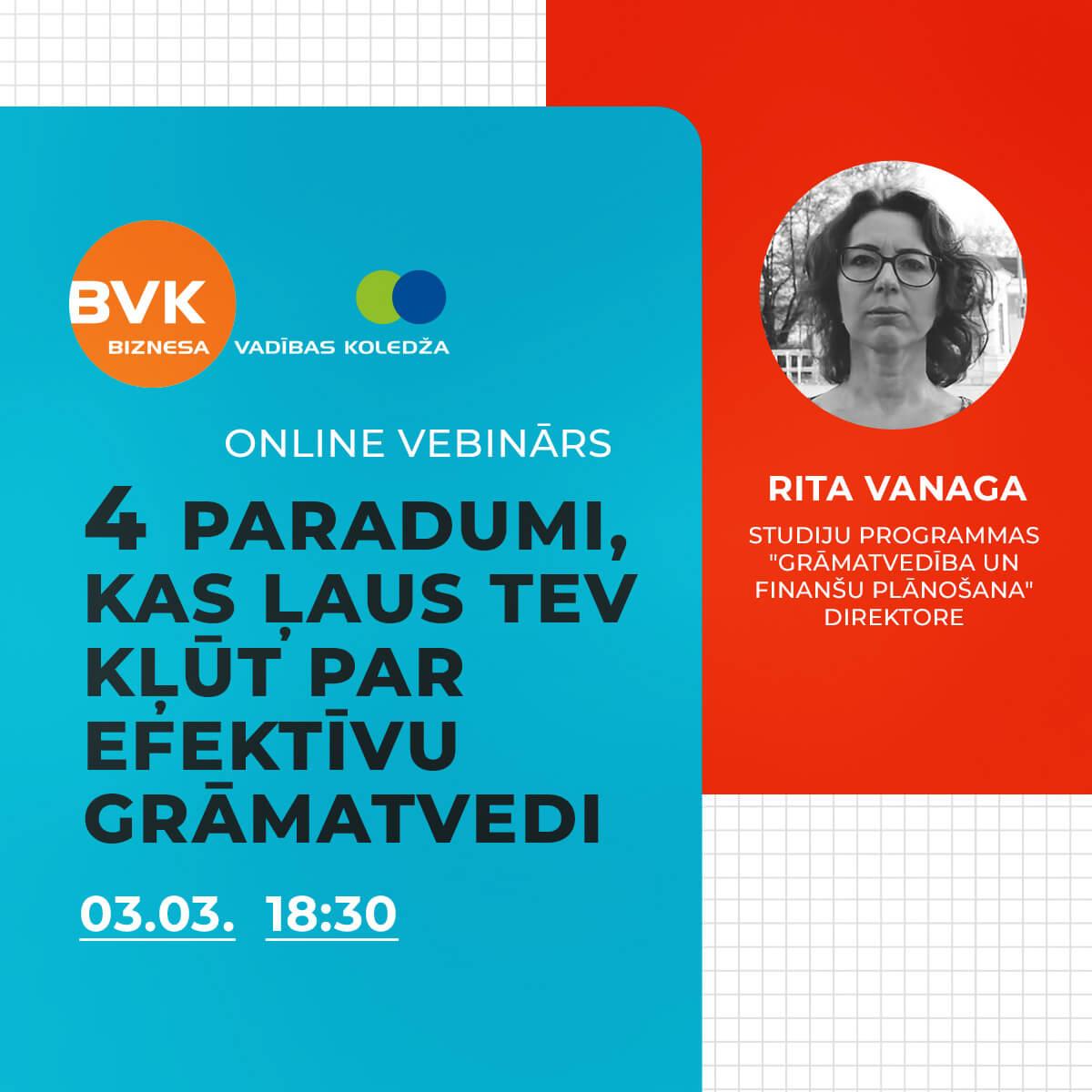 BVK online vebinārs «Grāmatvedība un finanšu plānošana»