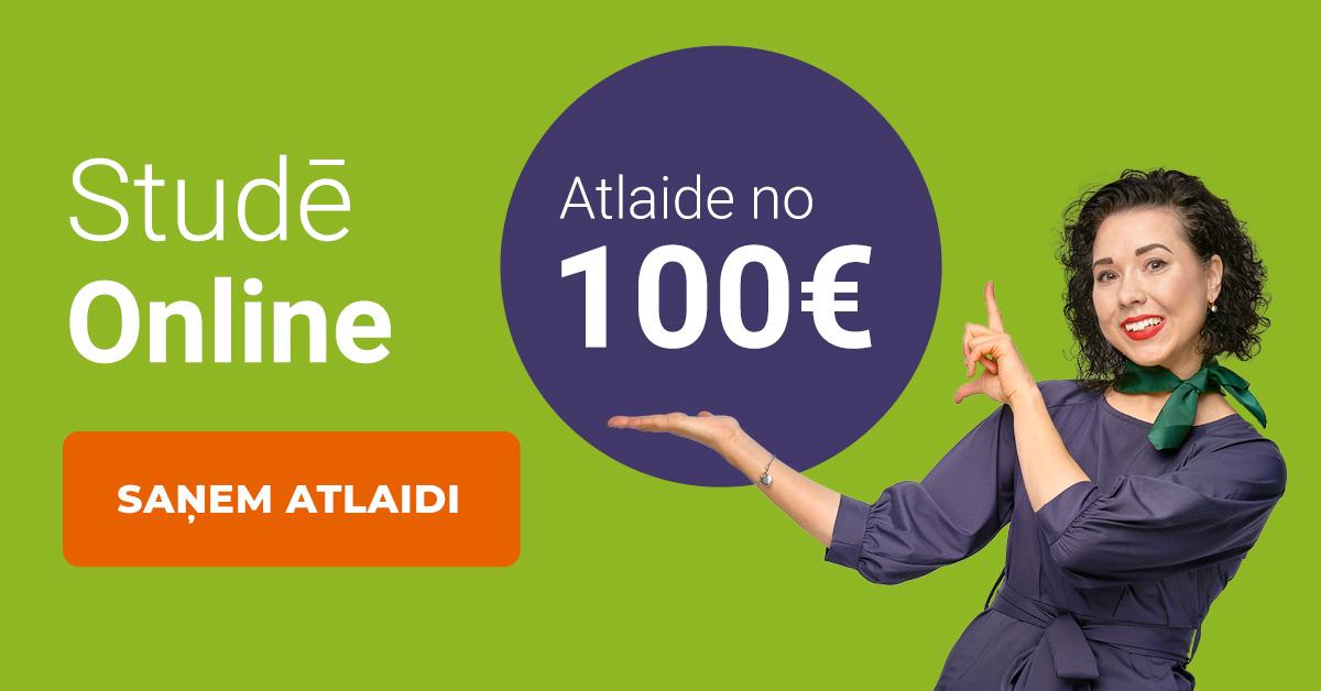 Rezervē labāko cenu līdz 9 aprīļa plkst. 12:00 un ietaupi 200 EUR studijām